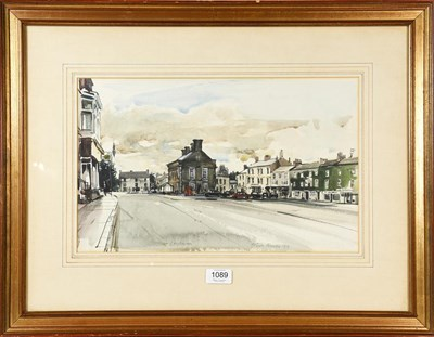 Lot 1089 - Peter Knox, view of Leyburn, signed dated and...