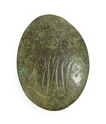 Lot 14 - A George III Brass Crossbelt Plate to the...