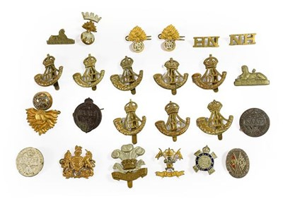 Lot 17 - A Small Collection of Badges, including cap...