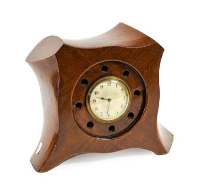 Lot 25 - A Laminated Mahogany Mantel Timepiece, made...