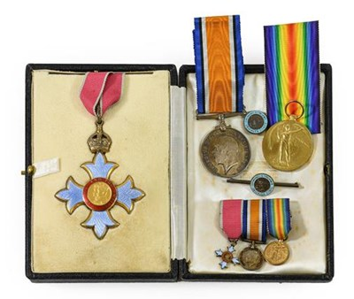 Lot 3 - A First World War CBE Group of Medals, awarded...