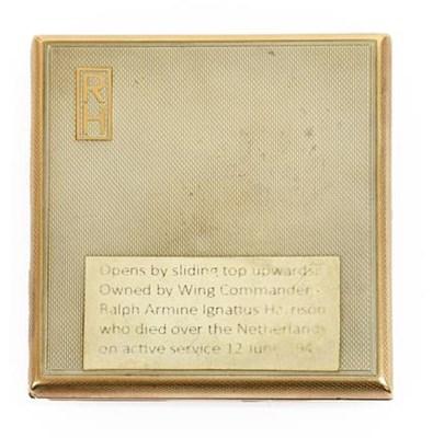Lot 32 - A George VI Silver Cigarette Case by Asprey &...