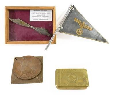 Lot 52 - A First World War Memorial Plaque, to 45660...