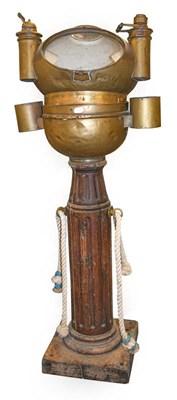 Lot 54 - A Mid-19th Century Ship's Brass Binnacle...