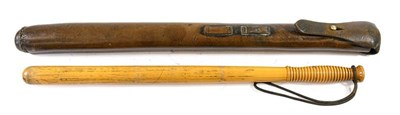 Lot 58 - An Early 20th Century Mounted Police Baton, of...