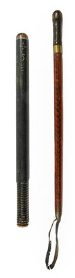 Lot 63 - A George IV Police Wood Truncheon, painted...