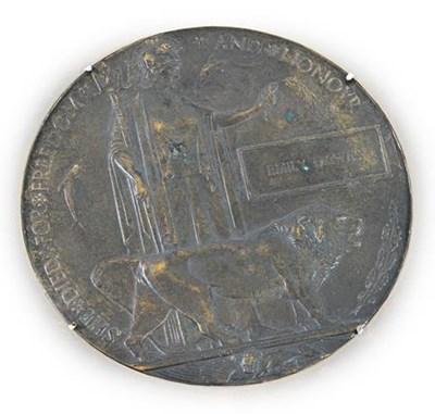 Lot 7 - A Rare First World War Memorial Plaque to...