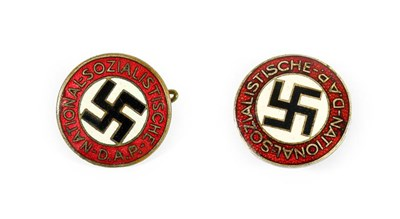 Lot 77 - Two German Third Reich NSDAP Party Badges, in...