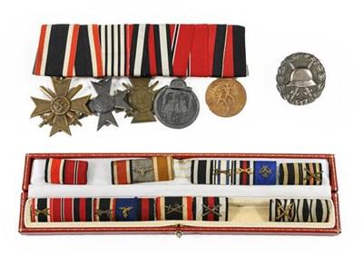 Lot 90 - A First World War German Wound Badge, silver...