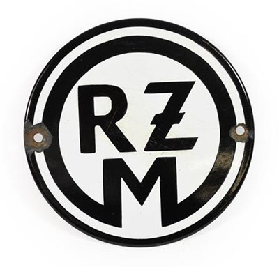 Lot 93 - A German Third Reich RZM Tailor's Shop Plaque,...