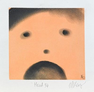 Lot 1000 - Mackenzie Thorpe (b.1956) ''Head'' Signed and...