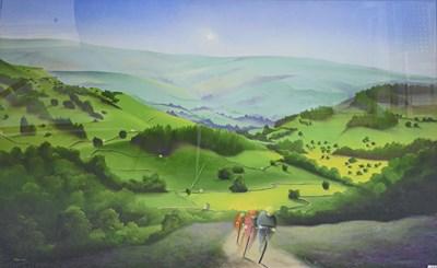 Lot 1009 - Mackenzie Thorpe (b.1956) ''Over Moor and Dale'...