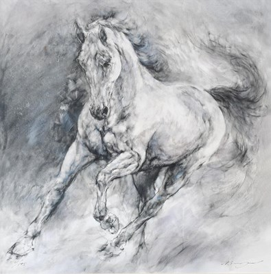 Lot 1018 - Gary Benfield (b.1965) ''Storm'' Signed and...