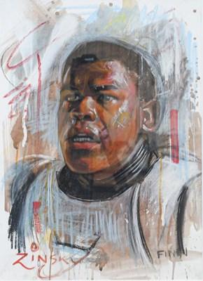 Lot 1035 - Zinsky (Contemporary) ''Finn Sketch'' Signed...