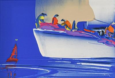 Lot 1036 - Duncan MacGregor (Contemporary) ''Sail Change''...