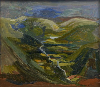 Lot 1054 - Mary Lord (b.1931) ''The Valley'' Signed, oil...