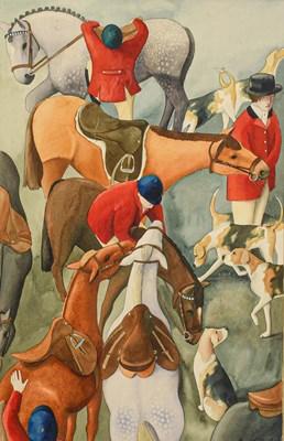 Lot 1058 - Katherine Fleming (20th century) ''Hunt Scene''...