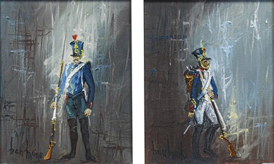 Lot 1068 - Ben Maile (b.1922) ''Soldier'' Indistinctly...