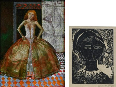 Lot 1069 - Peter Layzell (b.1962) ''Woman in a Silk Dress'...