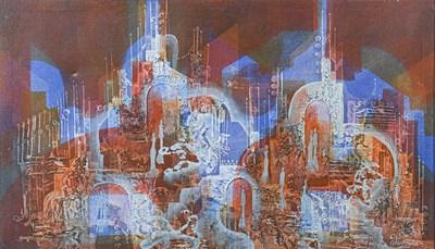 Lot 1074 - Jan Wenczka (b.1946) Polish Abstract city view...