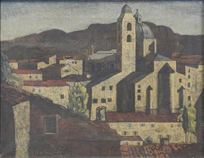 Lot 1075 - George D. Aked (1907-1989) ''Hill Town no.1''...