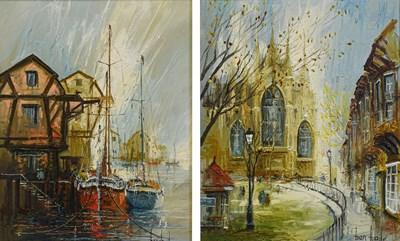 Lot 1089 - Ben Maile (b.1922) ''The Old Shipyard'' Signed,...