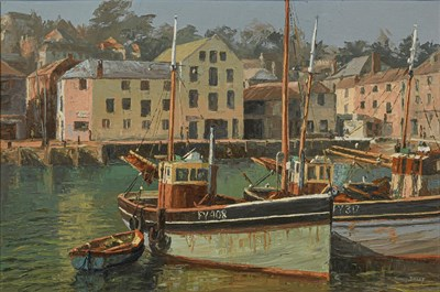 Lot 1090 - Nancy Bailey (1913-2012) ''Mevagissey'' Signed,...