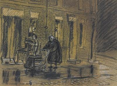 Lot 1093 - Brian Nolan (b.1931) ''The Evacuees- Hulme''...