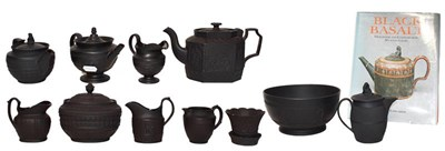 Lot 15 - A collection of 19th century Black Basalt ware...