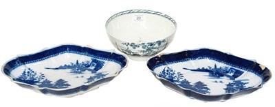 Lot 20 - An 18th century Liverpool porcelain slop bowl,...