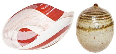 Lot 24 - A Murano glass bowl, 53cm wide, and a Studio...