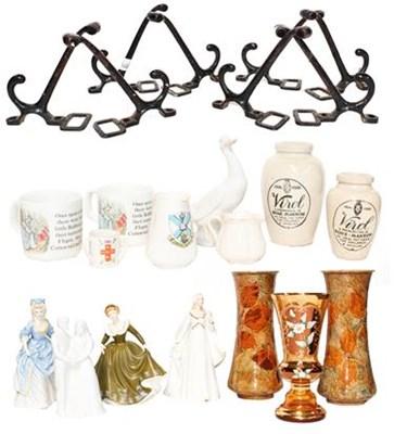 Lot 26 - A pair of Royal Doulton stoneware vases,...