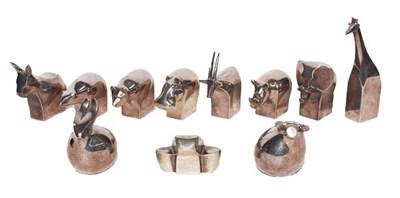 Lot 31 - Dansk Design, eleven Japanese stylized metal...