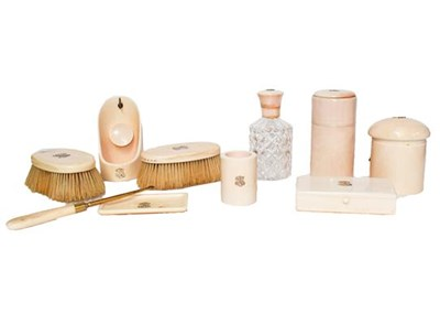 Lot 33 - A group of late Victorian/Edwardian ivory...