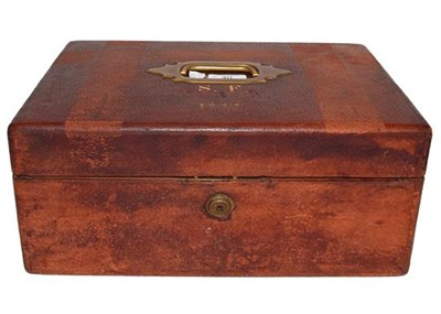 Lot 40 - A late Victorian pigskin travelling work box...