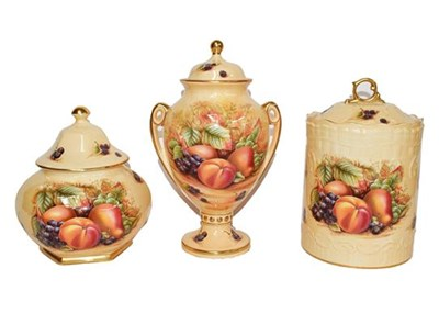 Lot 44 - Three pieces of Aynsley Orchard Gold china