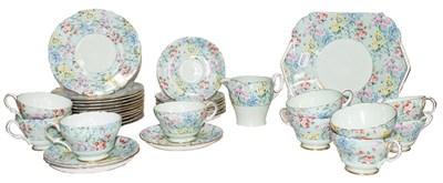 Lot 45 - A Shelley Melody pattern tea service,...