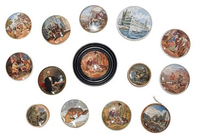 Lot 48 - A collection of 19th century Prattware pot...