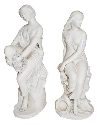 Lot 51 - Two Victorian Minton Parian figures by John...
