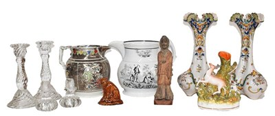 Lot 52 - Mixed items, including: Continental polychrome...