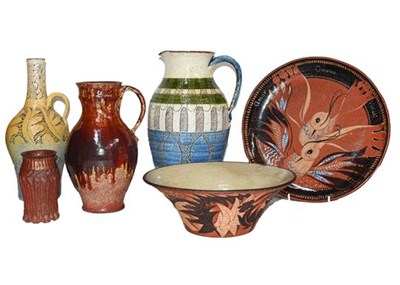 Lot 54 - Six pieces of Studio Pottery by Harry Johnston,...