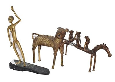 Lot 58 - Two 20th century African Benin style tribal...