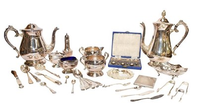 Lot 66 - A collection of assorted silver and silver...