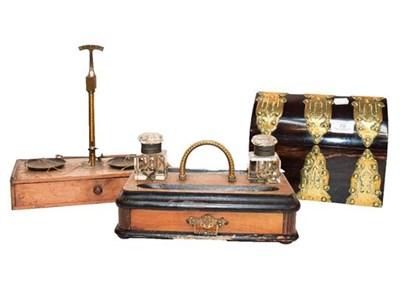 Lot 70 - A Victorian Coromandel box of lancet form with...