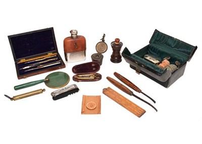 Lot 71 - Sundries comprising a miniature Gladstone bag,...