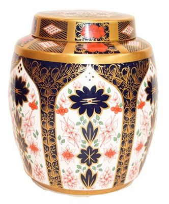 Lot 76 - A Royal Crown Derby Imari ginger jar and cover,...