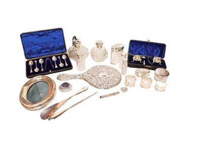 Lot 78 - A selection of silver items including dressing...