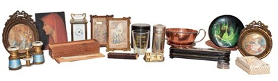 Lot 93 - A tray of assorted, including: a miniature...