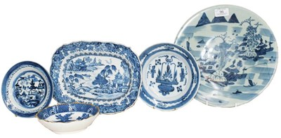 Lot 96 - An early 19th century Chinese blue and white...