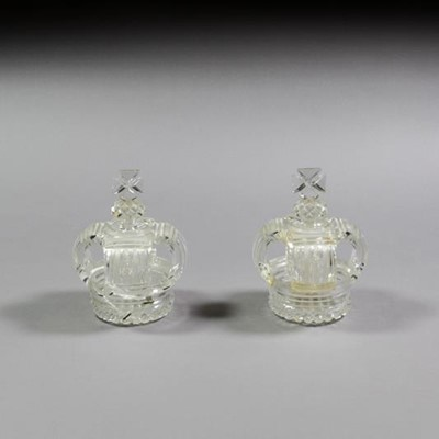 Lot 1 - A Pair of George IV or Later Cut-Glass...
